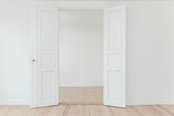 vit dörr - liten